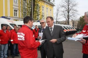 В Киев привезли новые машины скорой помощи